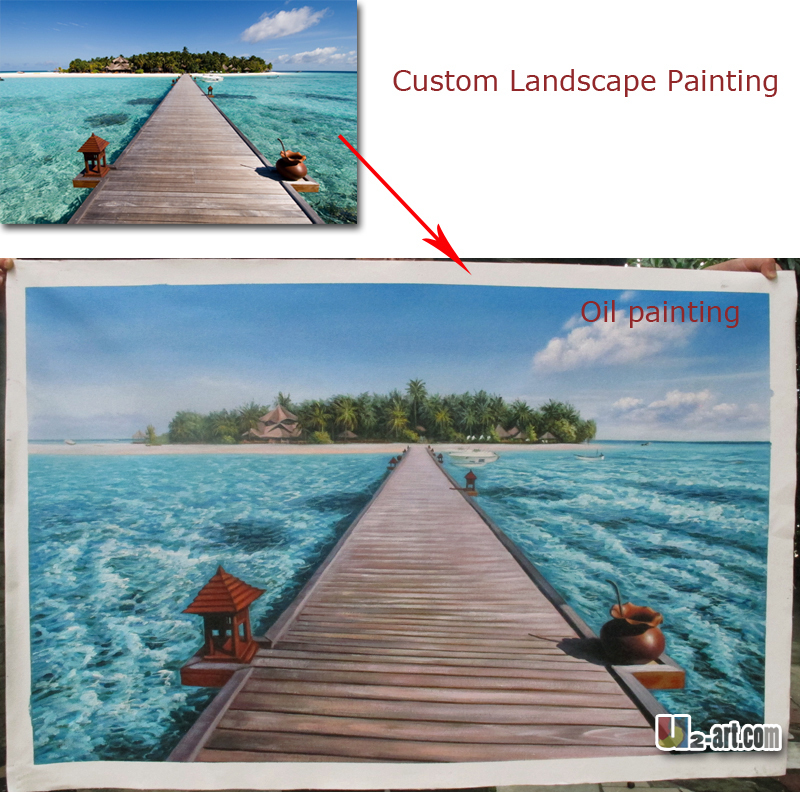 Textured custom landscape oil painting scenery canvas pictures for bedroom decoration best gift for friendsTextured custom landscape oil painting scenery canvas pictures for bedroom decoration best gift for friends