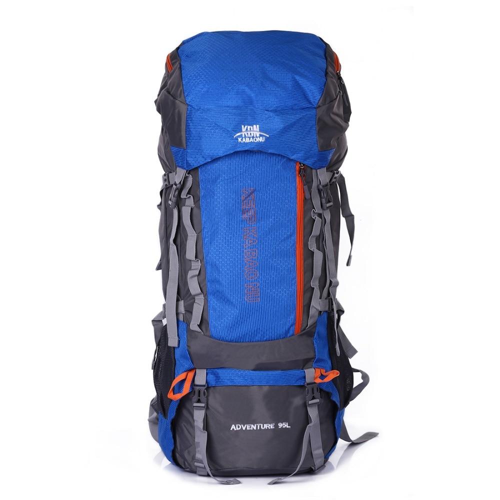 Sheng lun lai 95L Nylon Backpack Waterproof Durable Men s Back Pack Waist Protect Belt Wear