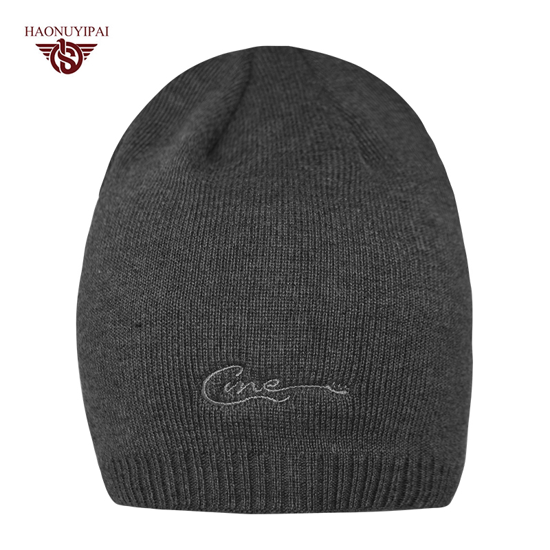 Men's Knit Baggy Beanie Winter Hats Ski Slouchy Chic Caps Plus Velvet Keep Warm Ear Cap Custom Embroidery Hat  CX013 50pcs pom plastic bearings 608 with glass balls 8x22x7 mm nylon bearing