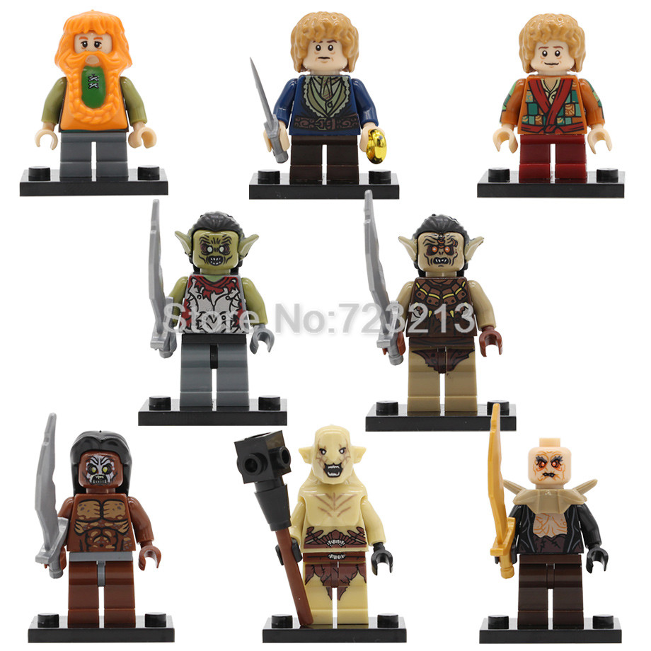 Einzigen PG8149 Film Bilbo Beutlin Figur Zwerg Uruk Hais Ork Azog Yazneg Bombur Gebäude Block Modell Bricks Kit Spielzeug