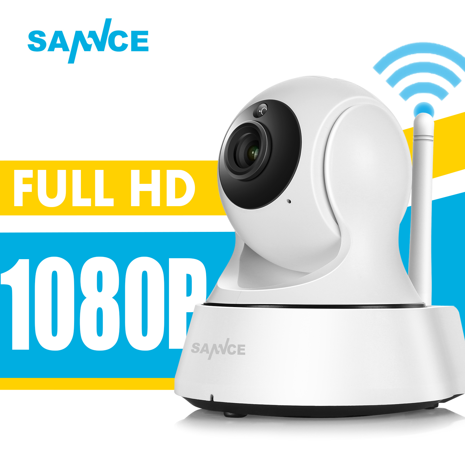 SANNCE Full HD 1080P Mini Wi-fi Camera Wireless IP Sucurity CCTV Camera Wifi Network Smart Night Vision Baby Monitor 10ft cable