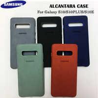100% coque d'origine Samsung S10 pour Galaxy S10Plus S10 + S10E Alcantara housse cuir Premium housse de protection complète 5 couleurs