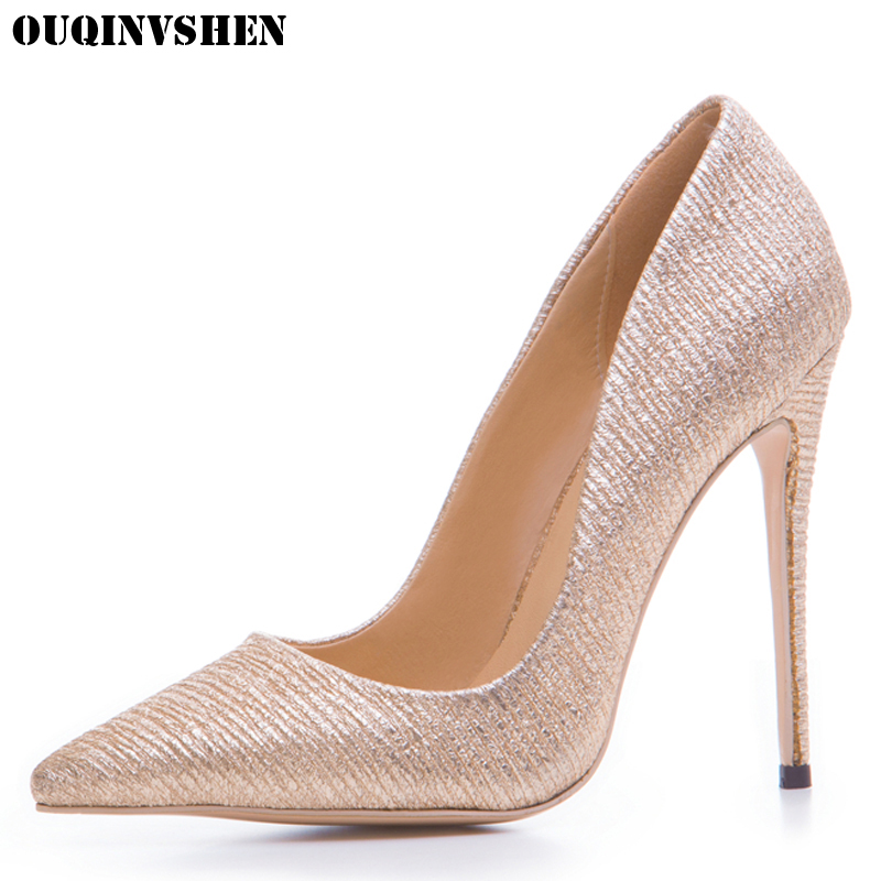 OUQINVSHEN Classic Shallow High Heels Pumps Pointed Toe Thin heels Single Shoes Ladies Girl Pumps New Casual Fashion Women Pumps ouqinvshen pointed toe high heels bling shallow women pumps new thin heels single shoes casual fashion stiletto heel high heels