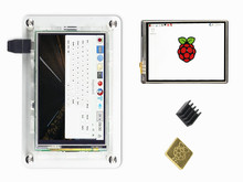 Latest 3.5 inch TFT LCD Touch Screen Display 128M SPI 60Hz  + Case + Heat sink For Raspberry Pi 3 B+