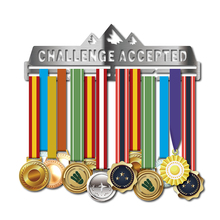 Medal hanger for Running,Cycling,Swimming,Marathon Sport medal holder 30+medals Challenge accepted display