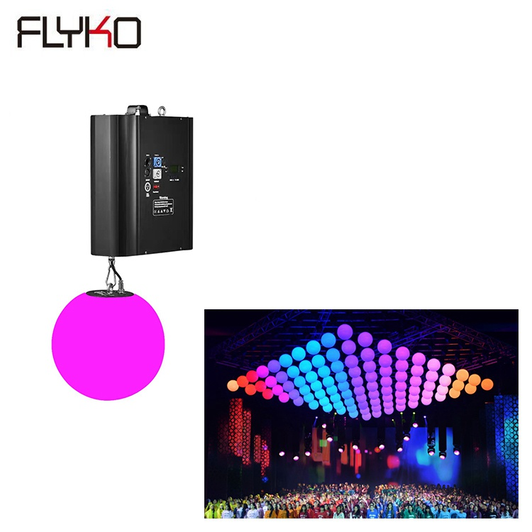 Free shipping hot sell full color stage dmx512 3d ball motorized led Kinetic lights