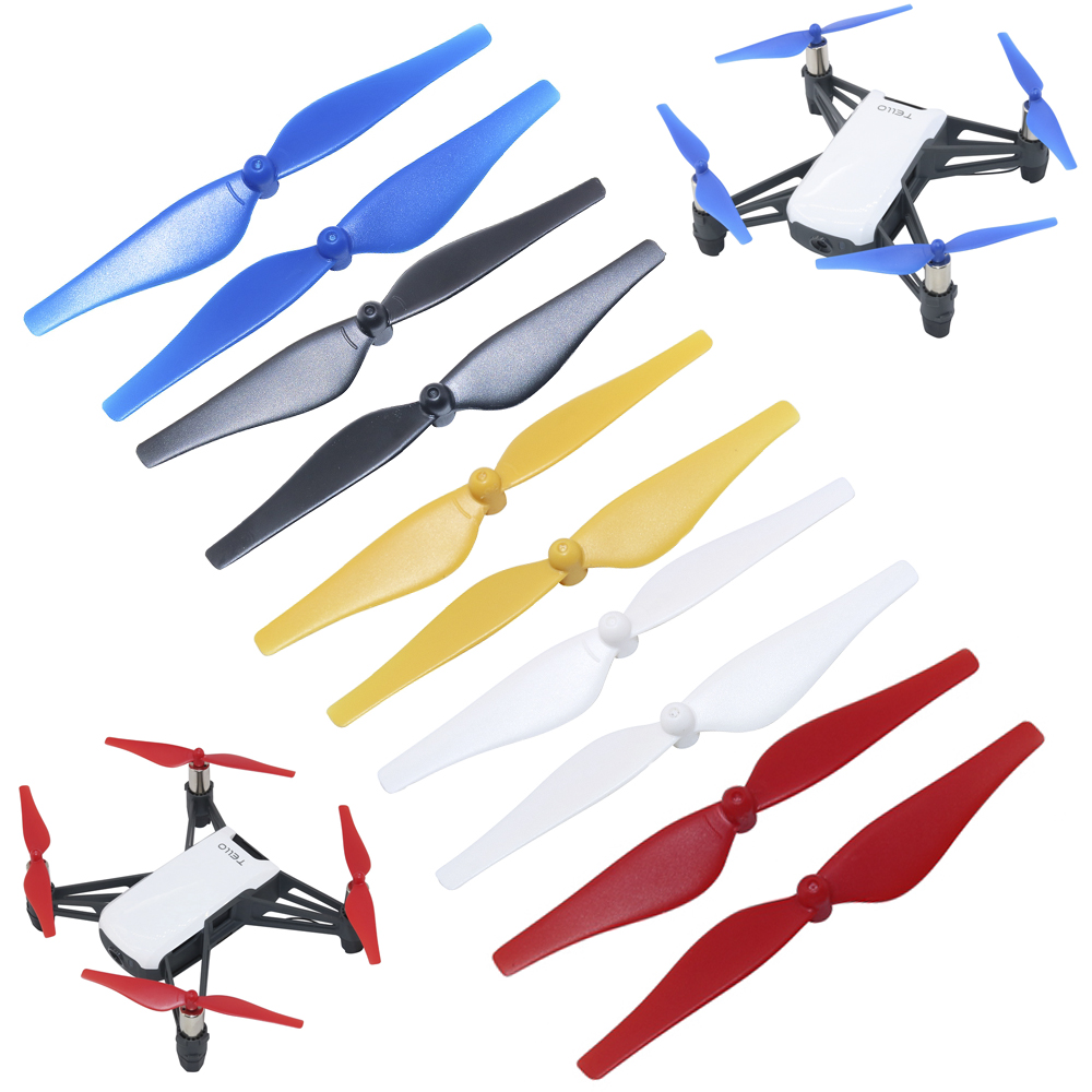 8PCS Replacement Propeller For DJI Ryze Tello Drone CW CCW Quick-Release Props Accessory Colorful Blade Wing Spare Parts Fan