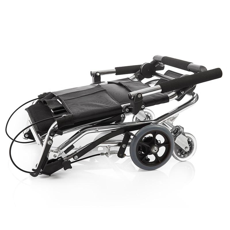 Yuwell инвалидов каталки для пожилых складной Портативный каталки для инвалидов легкий алюминиевый отключить коляске H200 ...
