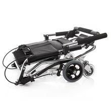 Yuwell инвалидов каталки для пожилых складной Портативный каталки для инвалидов легкий алюминиевый отключить коляске H200