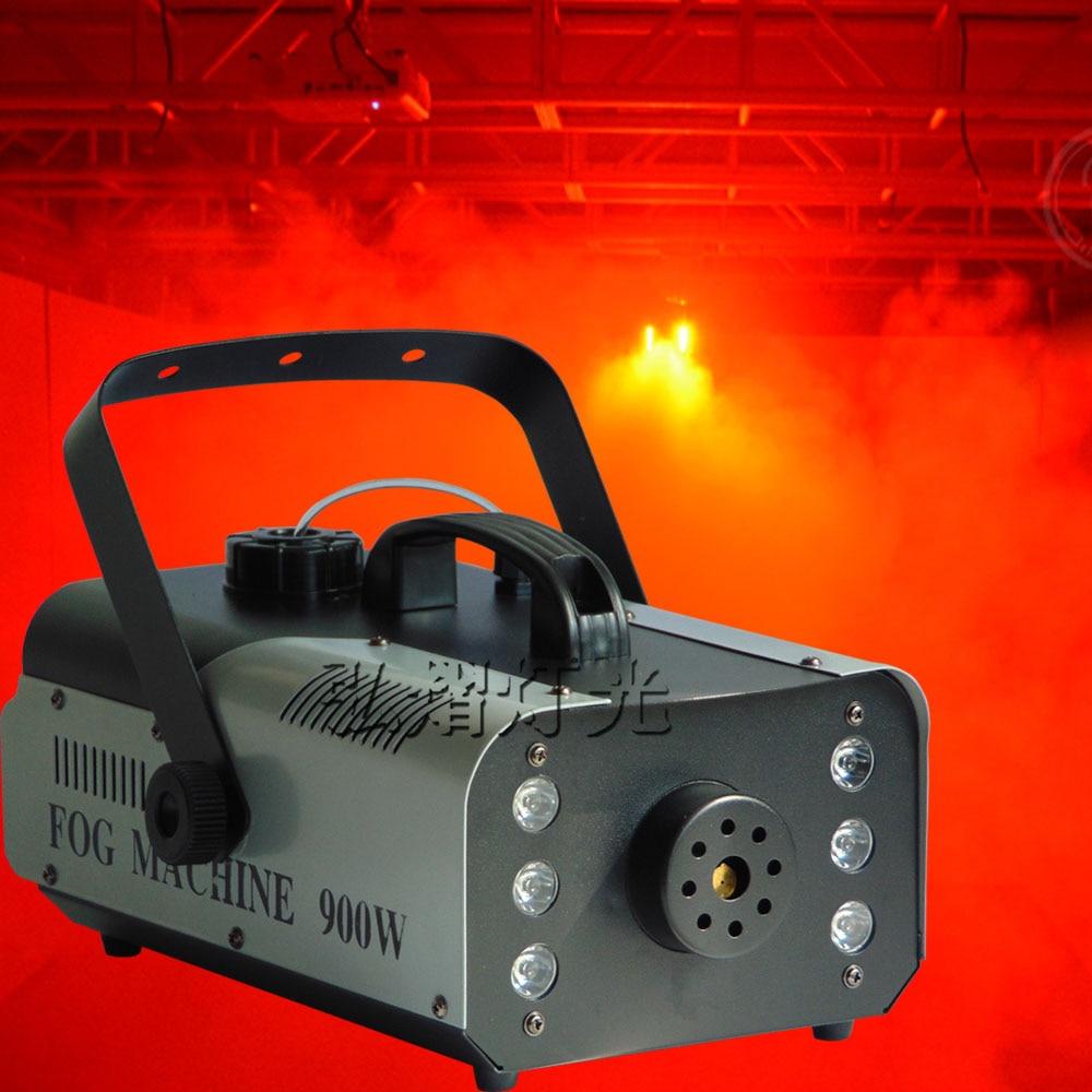Hot sale remote control mini 900W small smoke machine dj equipment stage fog machine 900w 1l fog machine remote wire control fogger smoke machine dj bar party show stage machine
