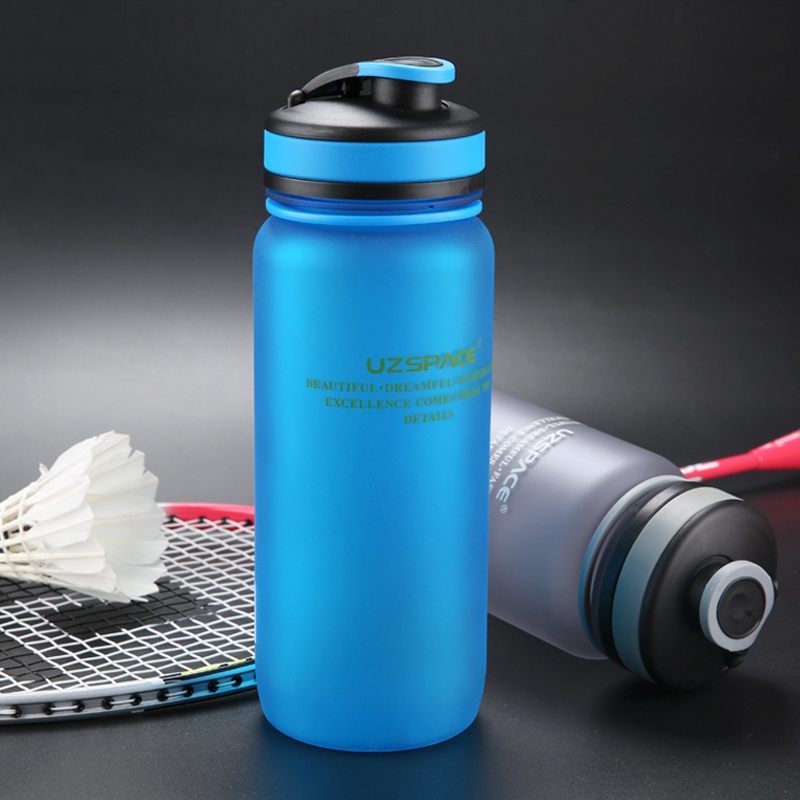 UZSPACE 650ML Sport Water Bottles Protein Shaker Cycling Hiking Trips Camping My Plastic Bottle Eco Friendly Drinkware BPA free-in Water Bottles from Home & Garden on AliExpress