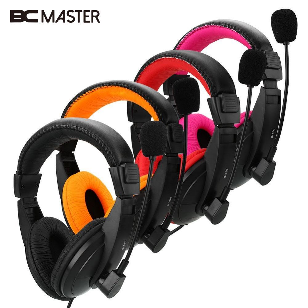 BCMaster  Gaming Stereo Headphone Bass Game Headset With Mic For PC Computer Headset Gamer MP3 Player Casque Portable New kotion each g2100 gaming headset stereo bass casque best headphone with vibration function mic led light for pc game gamer