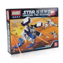 GUDI Star wars Science Fiction Plane Planet Hegemony Hellfire Front Children's Educational Fight Inserted Assembled Toy