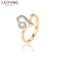 11.11 Deals Xuping Luxury Rings Charm Shining Ring Jewelry High Quality Heart Wedding Promotion Christmas Gift for Women 13217