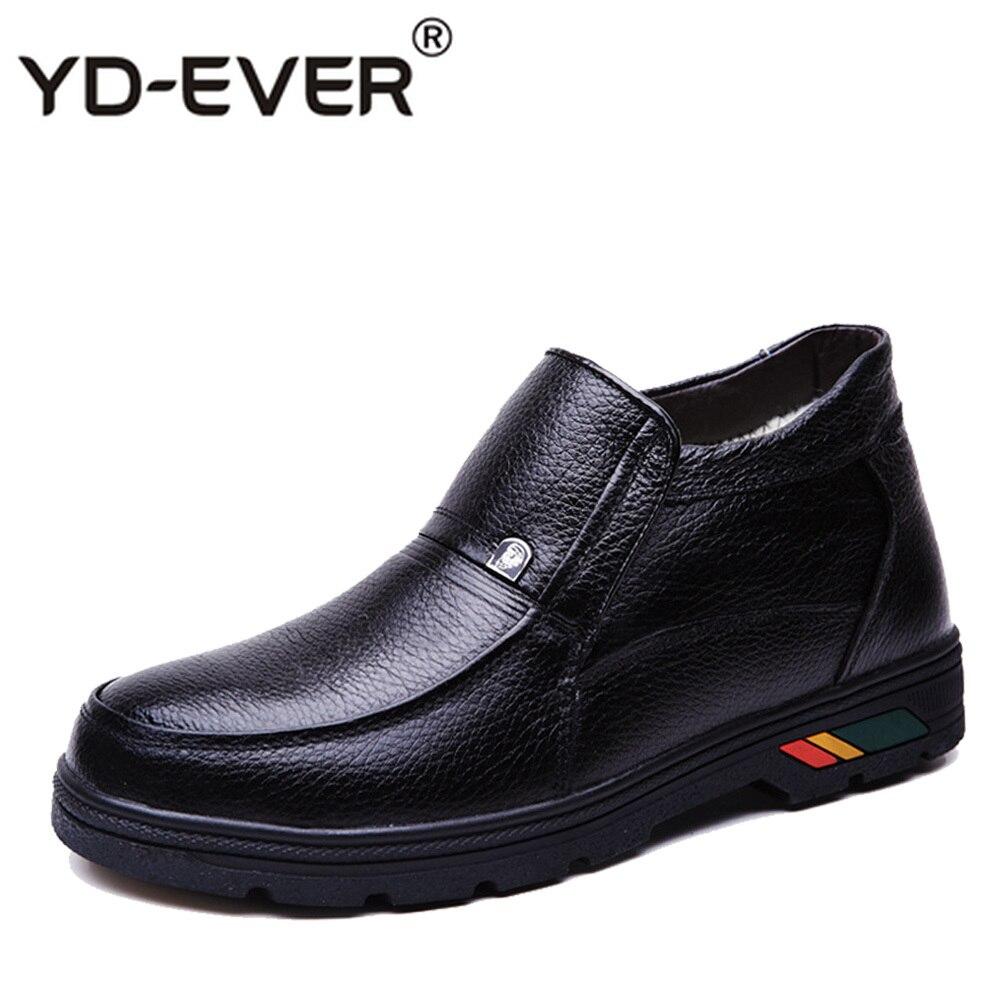 908ca1d21a Tobillo Moda Piel Botas Trabajo Combate Hombres La Zapatos Invierno Negro  Hombre Nieve Para De Caliente ...