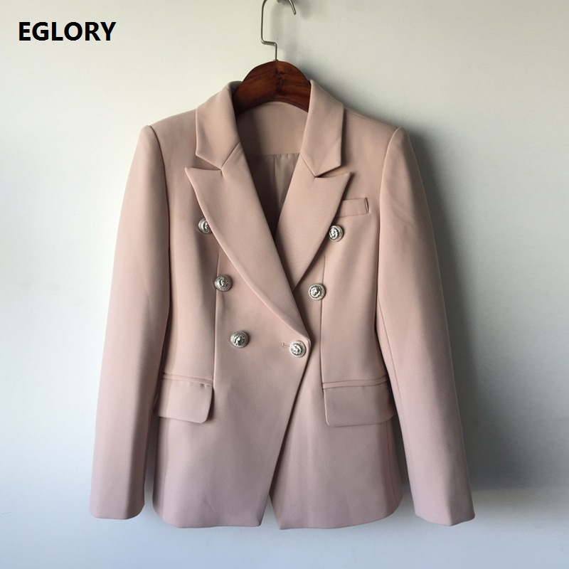 New Plus Size Coat Blazer Women Clothes Autumn Winter 2017 Double Breasted Long Sleeve Formal Business Female Outerwear Blazer