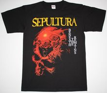 SEPULTURA BENEATH THE REMAINS SOULFLY CAVALERA DEATH METAL NEW BLACK T-SHIRT Loose Cotton T-Shirts for Men Cool Tops T Shirts все цены