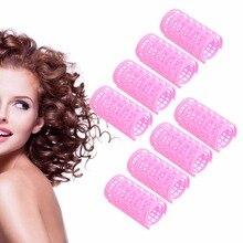 Cling Hair Salon Rodillos Rizadores Herramienta Suave Grande de Herramientas de Peluquería 8 UNIDS Caliente