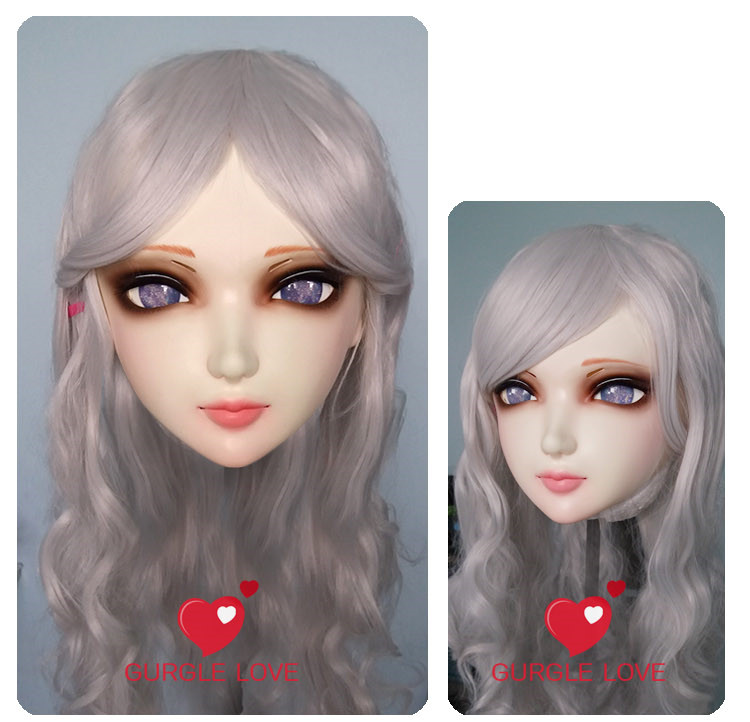 Novelty & Special Use gl001 Costumes & Accessories female Sweet Girl Resin Half Head Kigurumi Bjd Mask Cosplay Japanese Anime Role Lolita Lifelike Real Mask Crossdress Doll