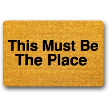 """This Must Be The Place Washable Rug Decorative Doormat Indoor/Outdoor 23.6"""" x 15.7"""" No"""