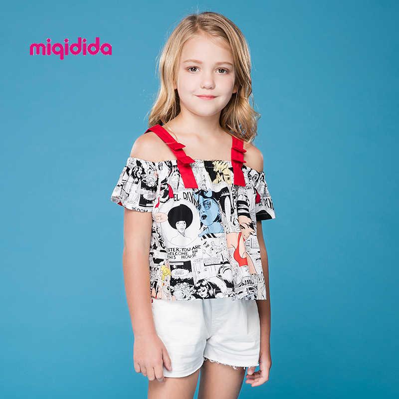 Летний комплект одежды для маленьких девочек топ на бретелях с принтом +