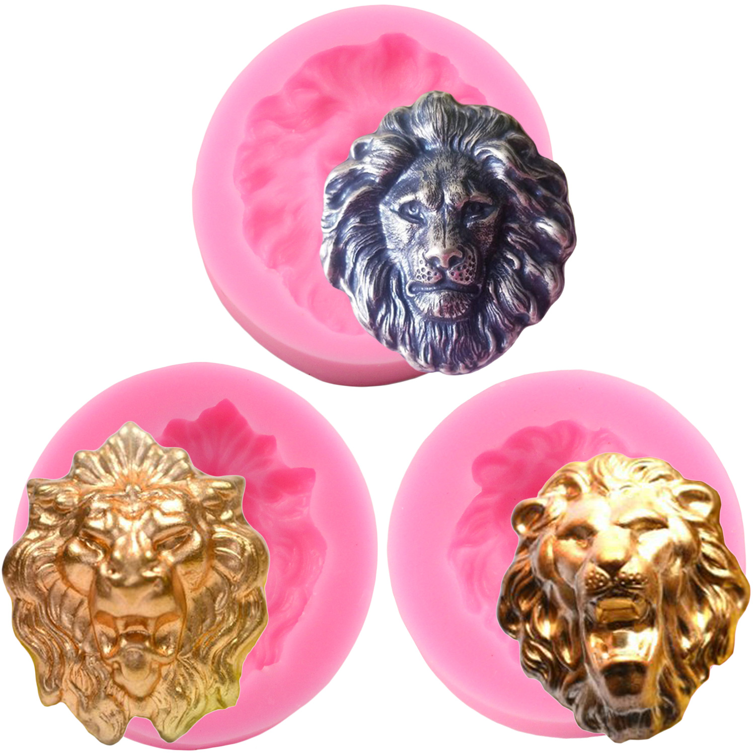 3D Lion Head Silicone Mold Fondant Soap Resin Clay Molds Cake Baking Decorating Tools Chocolate Gumpaste Candy Mould|Clay Extruders|   - AliExpress