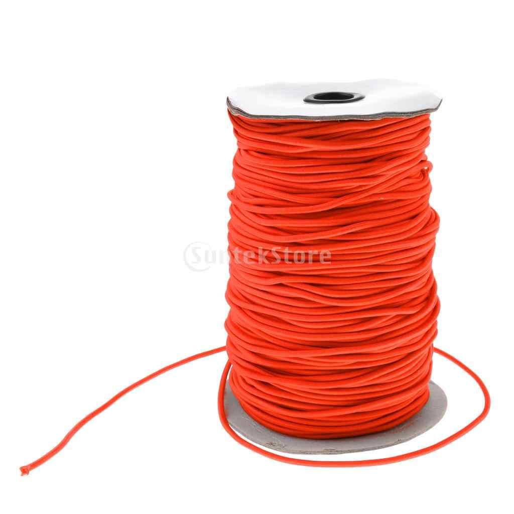 Orange 3mm 0.5-100m forte corde élastique corde de choc sangle d'arrimage remorque bateau Kayak/tente de remplacement tige pliante corde élastique