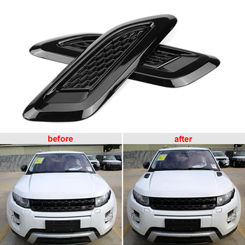 1 pair Exterior Hood Air Vent Outlet Wing Trim for Land Rover Range Rover Evoque 2012 2013 2014 2015 2016 2017 2018 Car Styling 1