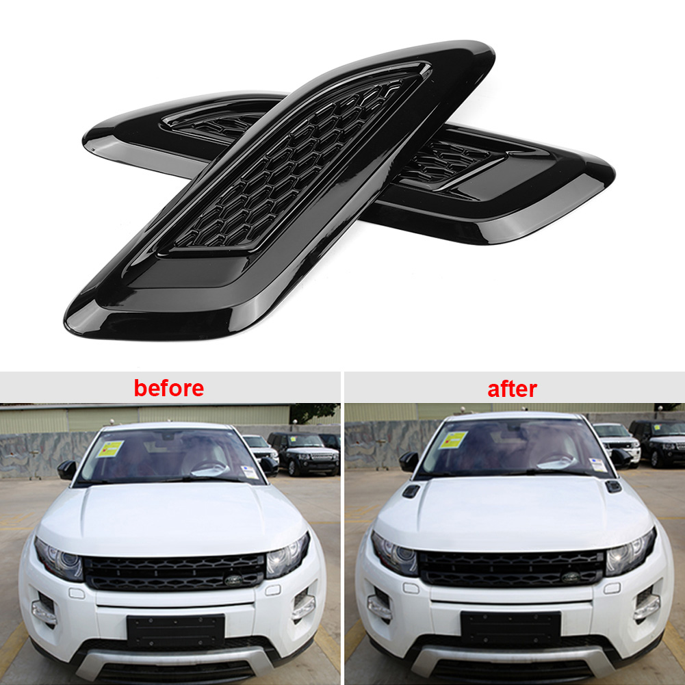 <font><b>1</b></font> pair Exterior Hood Air Vent Outlet Wing Trim for Land Rover Range Rover Evoque 2012 2013 2014 2015 <font><b>2016</b></font> 2017 2018 Car Styling image