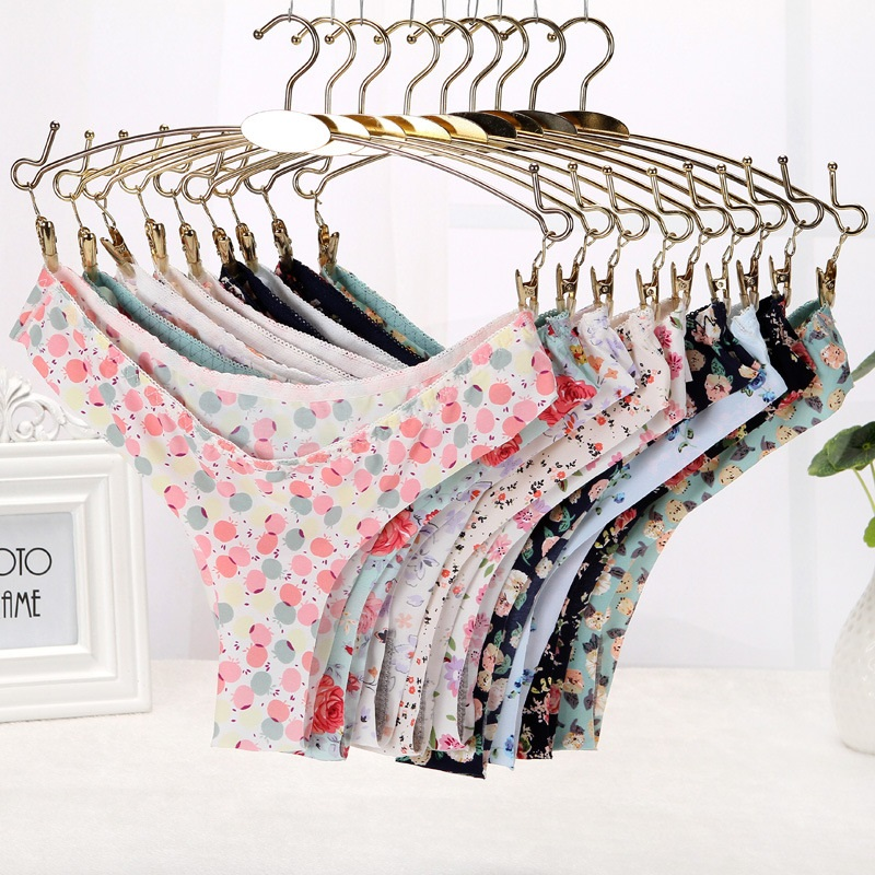 Buy 10Pcs Sexy Tangas Women Sexy Thong Seamless Panties Flower Print Underwear Women G String Bragas String Femme Culotte Femme