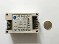 Bluetooth Ściemniacza Kontroler Taśmy LED RGB 12 V/24 V 33A moduł ściemniacza kontroler światła RGB kontroler Bluetooth mobilna