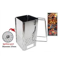 HobbyLane Outdoor Wood Stove Folding Portable Detachable Grill Stainless Steel Camping Stove Wood Stove Camping Stove Hot Sale
