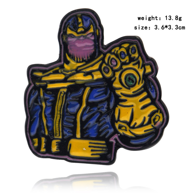 Avengers Brooch Endgame Superhero Captain American Marvel Thanos Infinity Gauntle Pin Brooches Badge Cosplay Gift for Women Men in Brooches from Jewelry Accessories