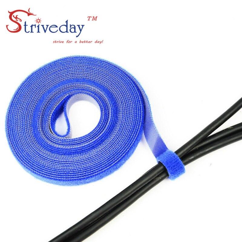 5 м/рулон magic cable tie Волшебная Пряжка ширина 1 см/Velcroe линия компьютерный кабель гарнитура намотка кабельная стяжка DIY