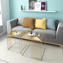 Coffee Tables Living Room Furniture Home Furniture iron minimalist tea table basse round desk individuales de mesa stolik modern(China)