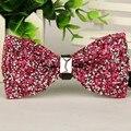 2015 Розовый Серебряный кристалл жемчужина лук галстук бесплатная доставка полноценно Роскошный bowknots bowties 12 см * 6 см массовая лот Оптовая