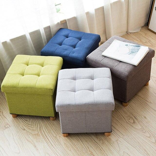 Household Fabric Stool High Chair Multifunctional For Storage Use Sofa Bo Bins Living