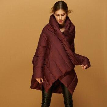 High Quality New Fashion 2018 Winter Jacket Women White Duck Down Parkas Women Thicken Warm Down Jacket Long Winter Coat Women