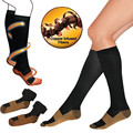 1Pair Miracle Copper Veins Compression Socks Slim Anti-Fatigue Soothe Tired Achy Anti-varicose Sports Knee Highs Slimming Wraps