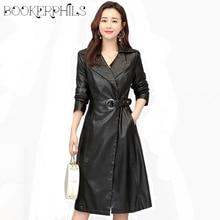 Fashion Women Leather Jacket Spring Autumn 2019 Plus Size 4XL High Quality Slim Faux Coat Female Outwear Windbreaker