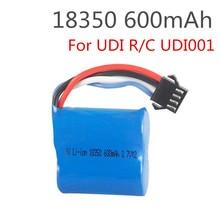 3.7v 600 mah 18350 15c SM-4P lipo bateria para udi001 udi 001 rc barco lipo bateria