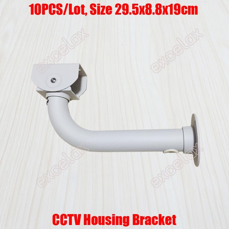 10PCS Lot L Type 30cm Length CCTV Housing Bracket Cable Protection Aluminum Alloy Wall Ceiling Mount