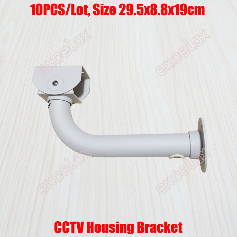 10PCS/Lot L Type 30cm Length CCTV Housing Bracket Cable Protection Aluminum Alloy Wall Ceiling Mount Security Camera Stand-in CCTV Accessories from Security & Protection    1