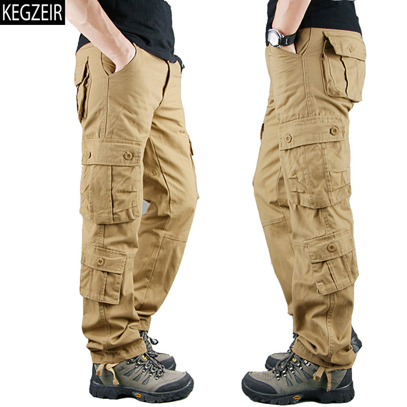 2020 Spring Winter Military Pants Men Khaki Cargo Trousers Casual Cotton Tactical Pants Men Big Size Army Overol Hombre
