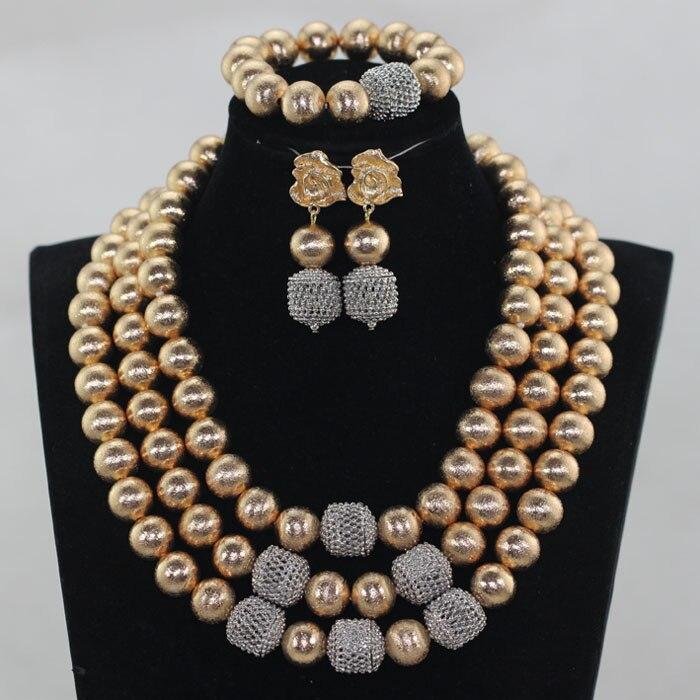 Dubai Gold Beads Bridal Costume Women Jewelry Sets 2017 Wedding African Fashion Jewelry Set Bride Free Shipping WE104Dubai Gold Beads Bridal Costume Women Jewelry Sets 2017 Wedding African Fashion Jewelry Set Bride Free Shipping WE104