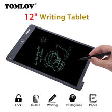 Cheapest TOMLOV Digital 12″ LCD Writing Tablet Pad Board Notepad Jot Style Graffiti Rewritable Paperless Gift For School Office