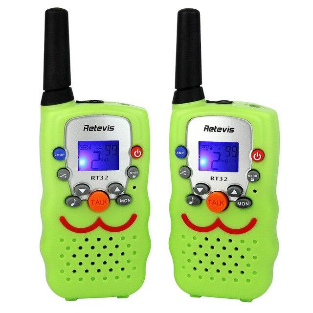 2pcs Retevis RT32 Kids Radio Walkie Talkie 0.5W UHF VOX Scan Monitor LED Flashlight Ham Radio For Kids Children A9113