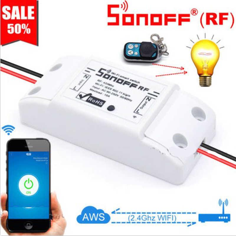 Sonoff WIFI умный переключатель 433 мгц радиочастотный приемник беспроводной пульт дистанционного управления DIY домашней автоматизации релейный модуль для Alexa Google Home