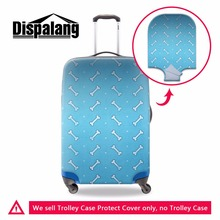 Dispalang bone pattern luggage protective cover for women cute blue duffle rain cover dustproof trunk box sets with zipper