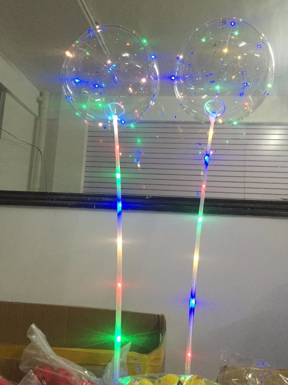 18 inch Clear Bubble Balloon With Led Strip Copper Wire Luminous Led ...